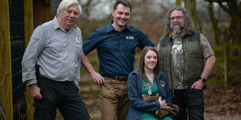 Lower Moss Wood staff with vet and nurse