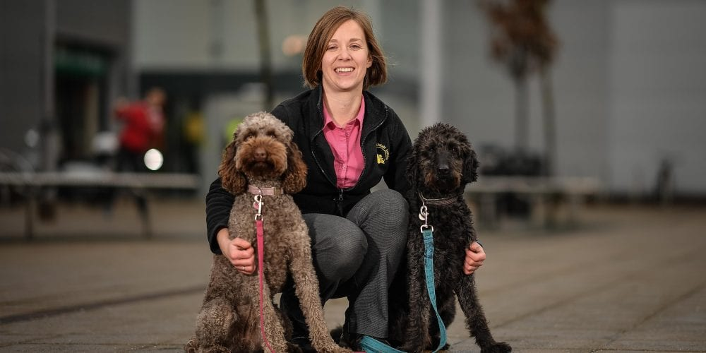 Philippa with her dogs
